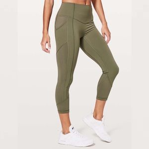 "Lululemon All the Right Places Crop 23"" Sage"